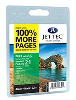 Jettec Remanufactured / Recycled HP C9351 - No 21 Black Ink Cartridge by Jettec
