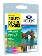 C9352 - No 22 Remanufactured / Recycled Colour Ink Cartridge by Jettec