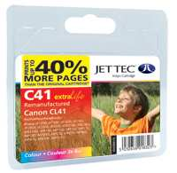 Jettec Reman CANON CL41 Colour Print Cartridge