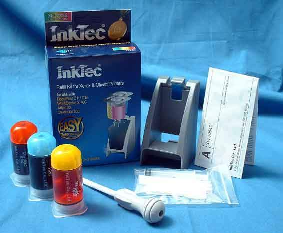 InkTec refill kits for Xerox inkjet cartridges